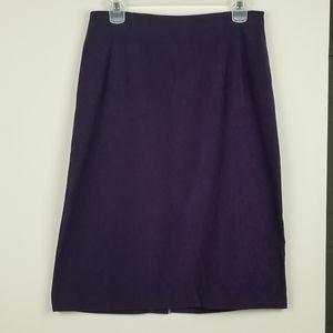 BRIGGS NY purple velvet pencil skirt